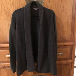 Vince wool and lamb skin leather sweater